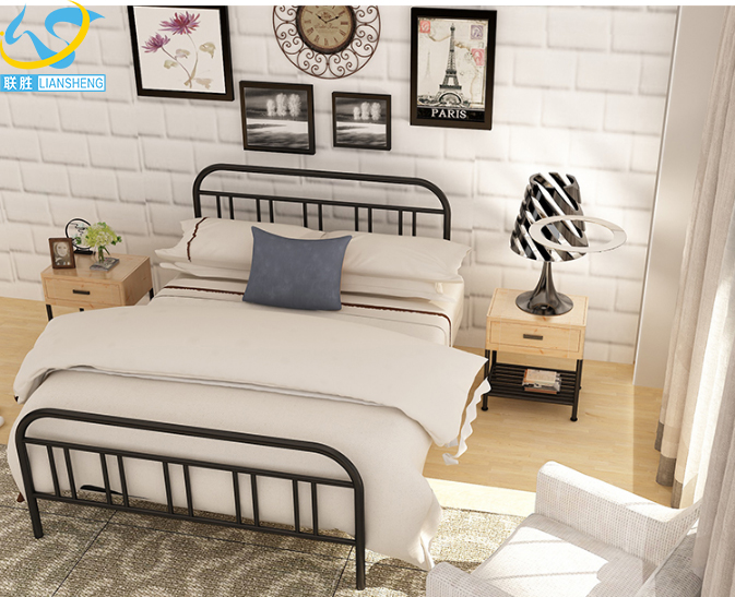 2016 modern latest luxury iron bed designs wrought iron single bed