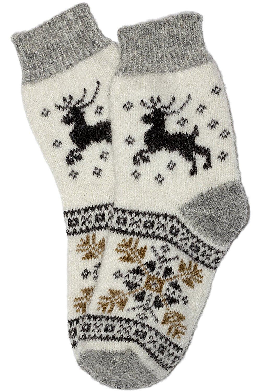Mens Natural Lambswool Warm Socks by Grannys Knitwear