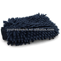 Black Double-sided Chenille Cleaning Mitt for Auto Screen Window Cleaning