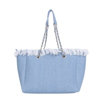 Wholesale New Arrival Monogram Denim Fringe Handbag
