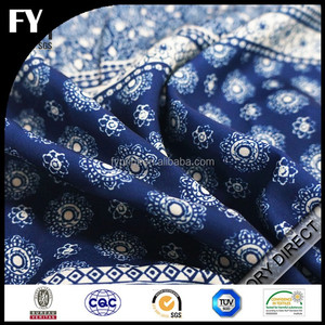 Custom high quality digital printed cotton sweat suit fabric