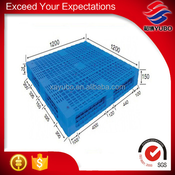 STP qualified standard double faced use plastic pallet 1200*1200