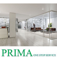 Best Frameless office partitions exterior glass wall panels partition for office