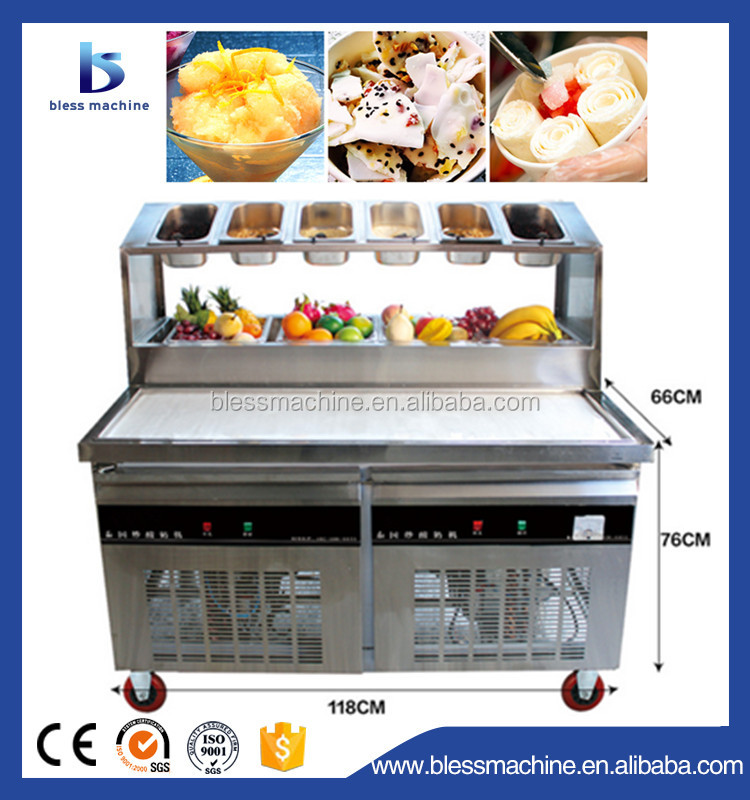 High production Quick frozen varies flavors ice cream cart with wheels