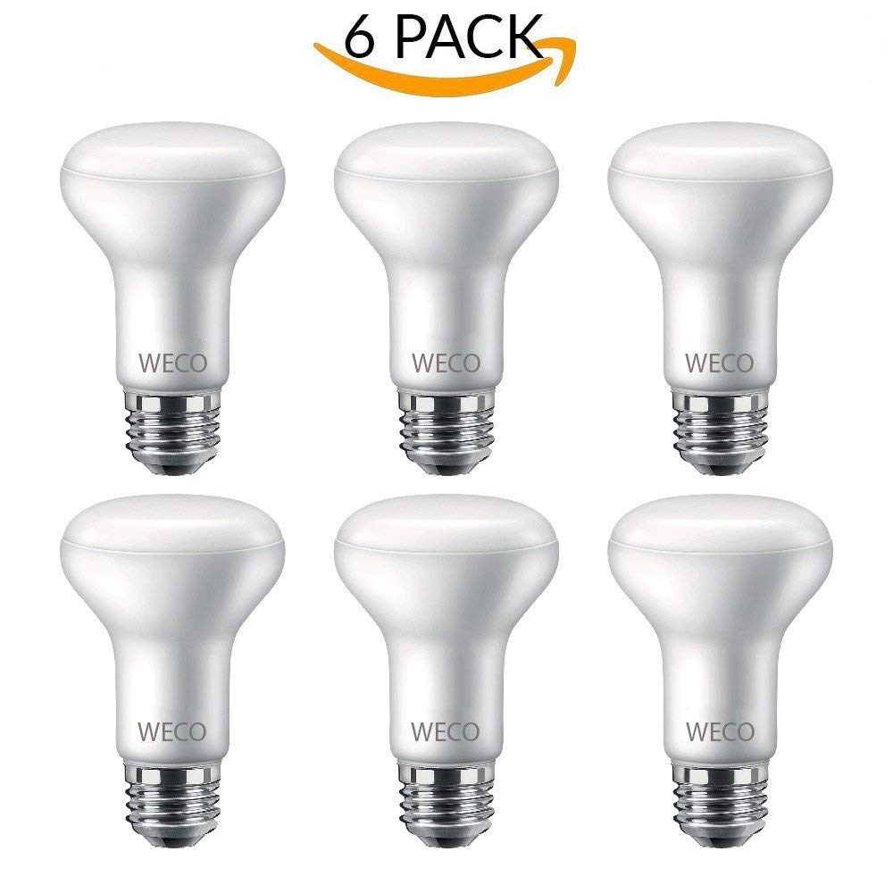 BR20 LED Dimmable Bulb 7 WATT (50W Equivalent) 550 Lumens, E26 Base, Frosted (2700K - Soft White, 6 Pack)