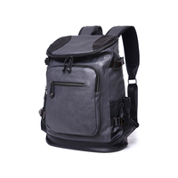 Manufacturing large fashionable business laptop back pack oem bookbag pu leather backpack man