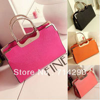 New Fashion Women's Girl Wedding Office Lady Vintage Handbag elegance synthetic leather bag 13199