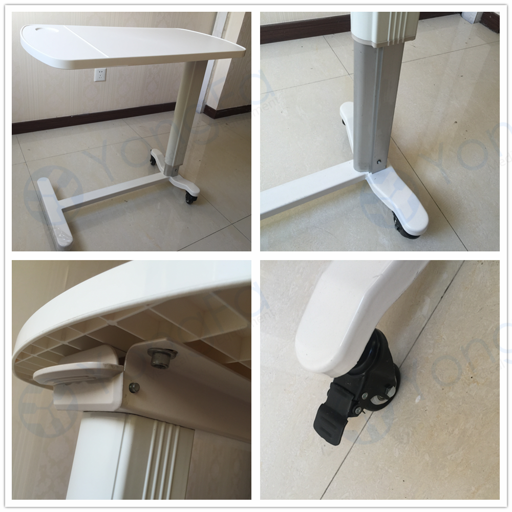 YFT-005 Hospital ABS Folding Overbed Table