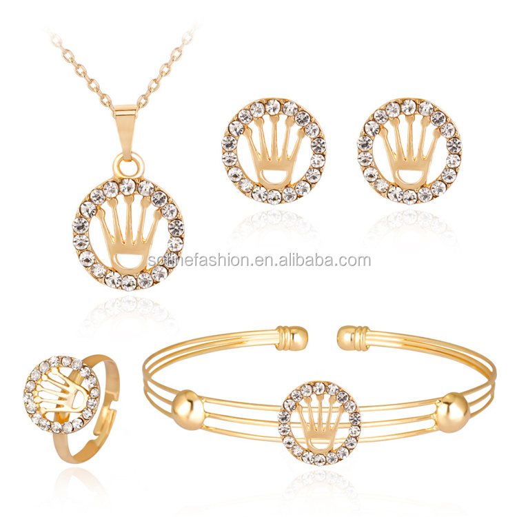 High Fashion Gold Plated Women Jewelry Sets OEM ODM