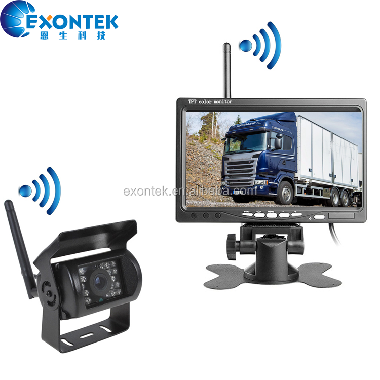 2019 China Wholesale Truck accessories Wireless Video System with 7 Inch Monitor and 1pcs Night Vision Camera