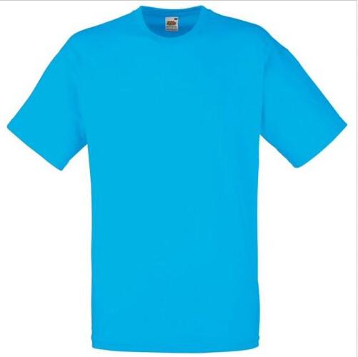 Fruit Of The Loom Childrens Kids Boys Girls Plain WHITE Cotton Tee T-Shirt