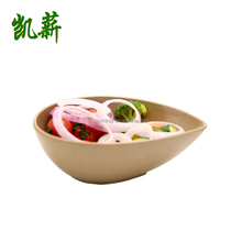 rice husk & bamboo fiber organic water drops shape salad bowl /soup bowl