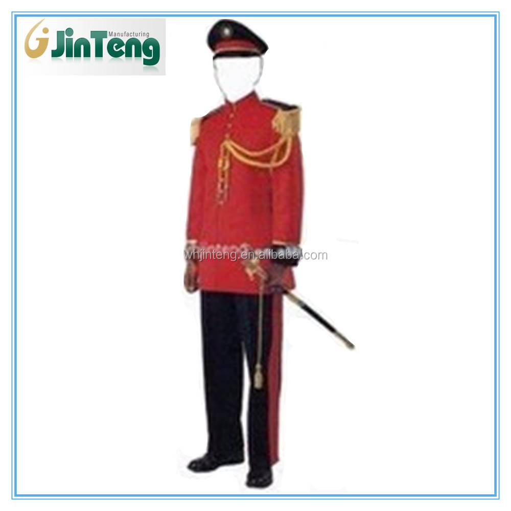 comfortable red band dress military ceremonial uniform