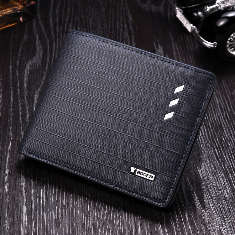 New fashion creative multi - function embossing <strong>wallet</strong> men's short purse