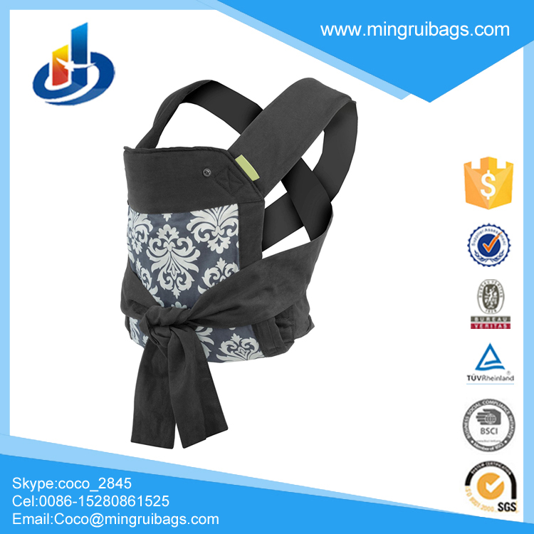 Sash Mei Tai Carrier, Black/Gray New Design Hot Selling Woven Baby Wrap Style Baby Sling Carrier Backpack