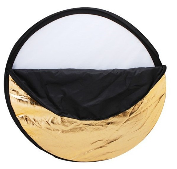 "60cm 24"" 5in1 Round Multi Collapsible Studio Photo Photography Light Reflector"