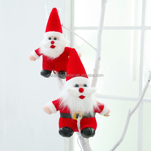 Factory wholesale Christmas doll pendant Santa Claus Decorative cloth doll craft decoration