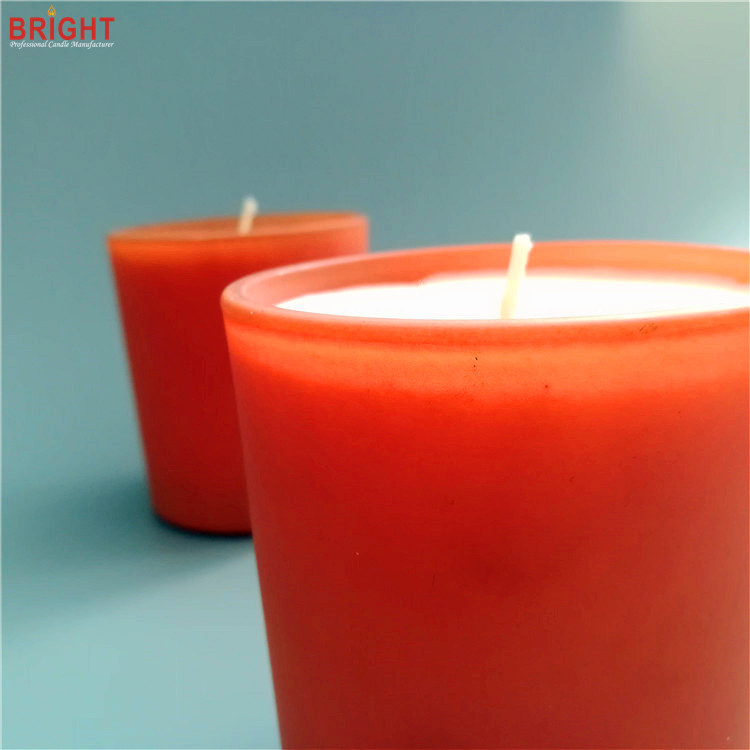 Organic 100% soy wax scented candles in custom glass jar