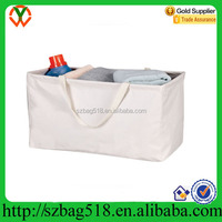 Household Essentials Rectangular Canvas Laundry Tote Washing Bag