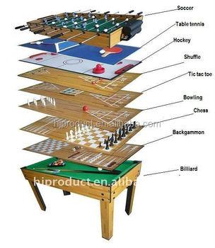 Childrenu0027s Indoor House Play Multi Function Game Table 9 In 1 Multi  Foosball Pool Tables