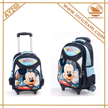 Nylon Mickey Mouse Trolley School Bag For Kids - Buy Mickey Mouse ...