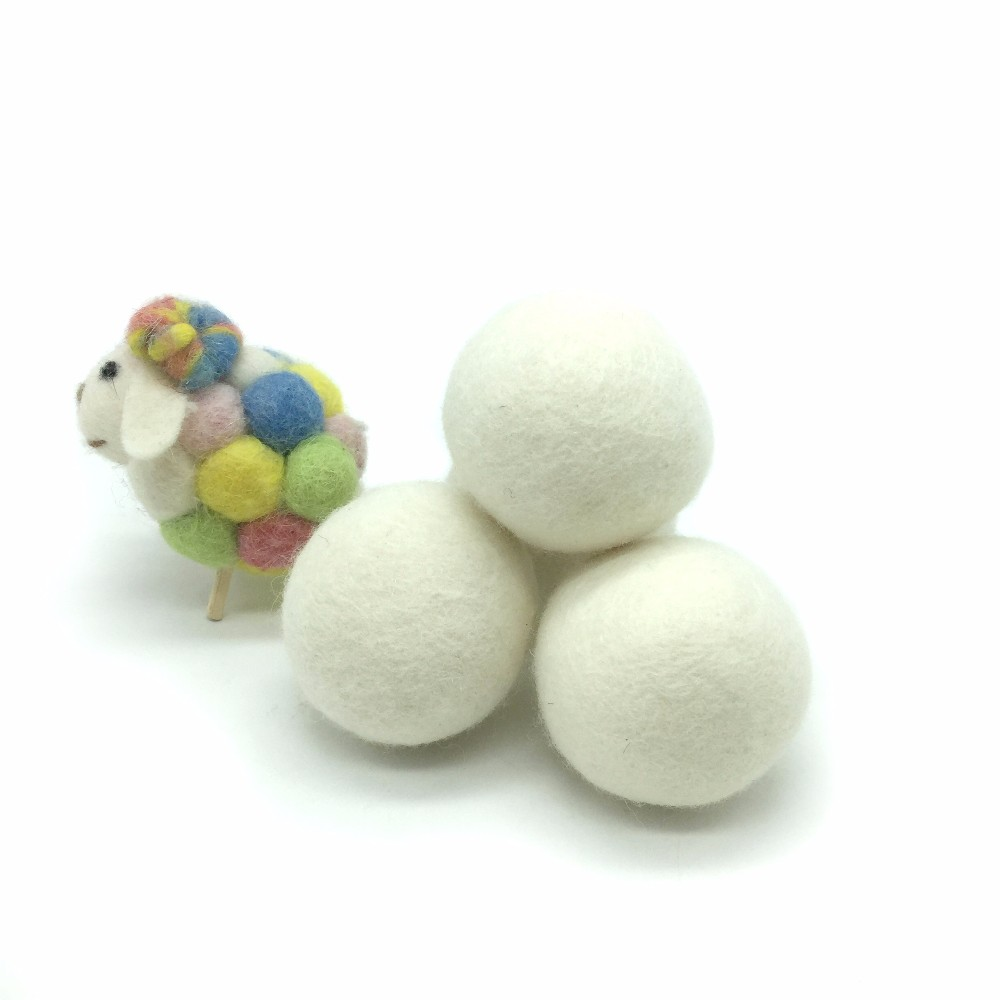 100% lana della nuova zelanda dryer balls anti static lana dryer balls