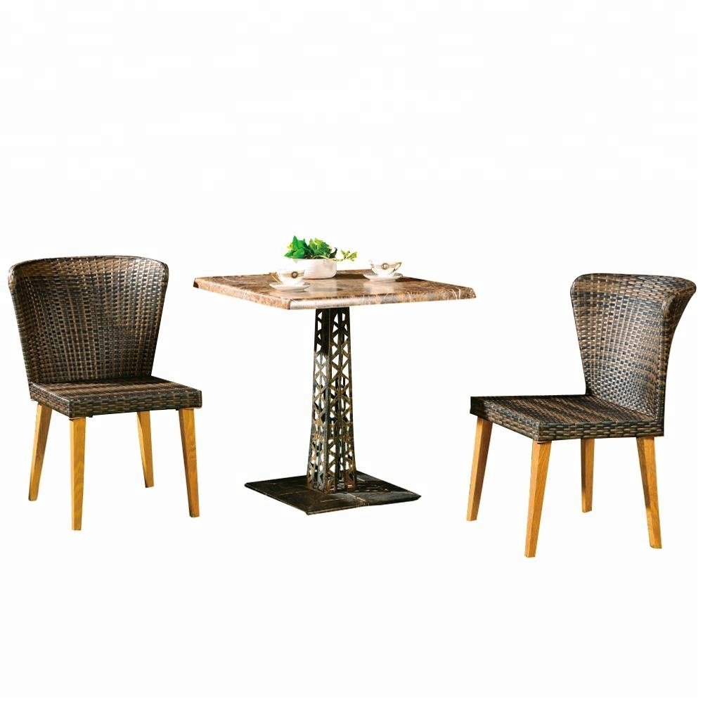 alibaba com PE rattan/Wicker Dinning 4 Chairs with Round Table contemporary Outdoor Dinning Set
