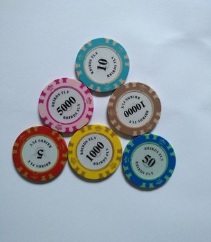 promotion high quality colorful casino 2 color crown poker chips