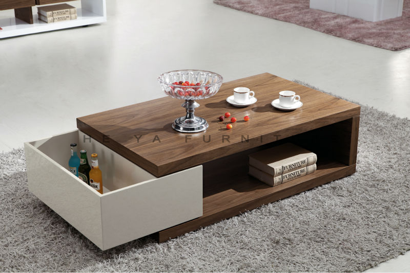 Wooden Centre Table ~ Modern transforming furniture wood veneer center table