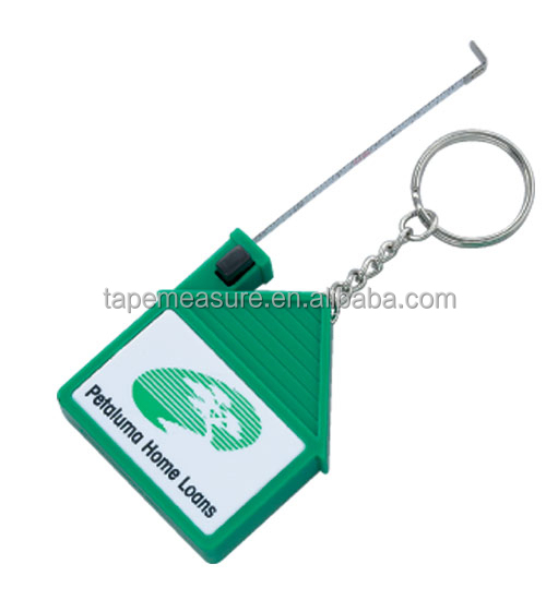 Christmas and New Year Gift Branded Your Company Logo Promotion Item House Shaped Mini Plastic Case Key chain