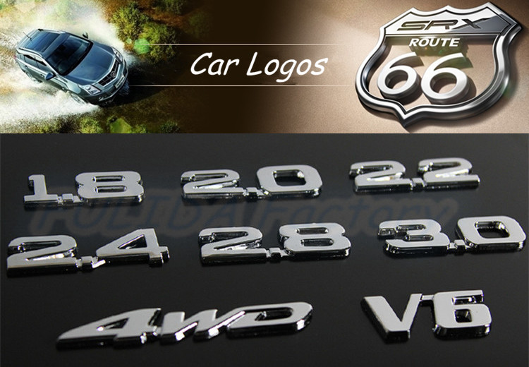 plastic chrome car logo lettersletters from a to z