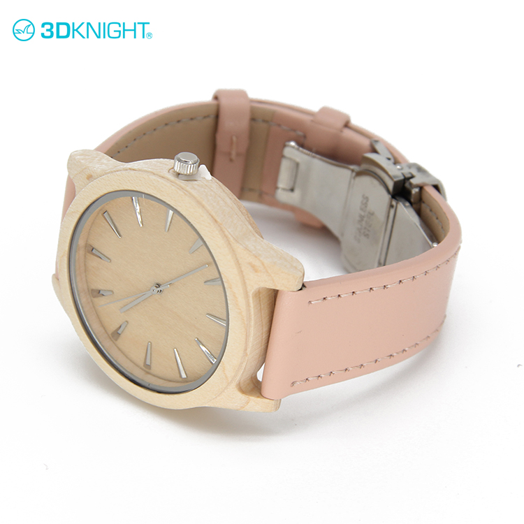 Oem leather band zebra wooden watch custom brand low moq