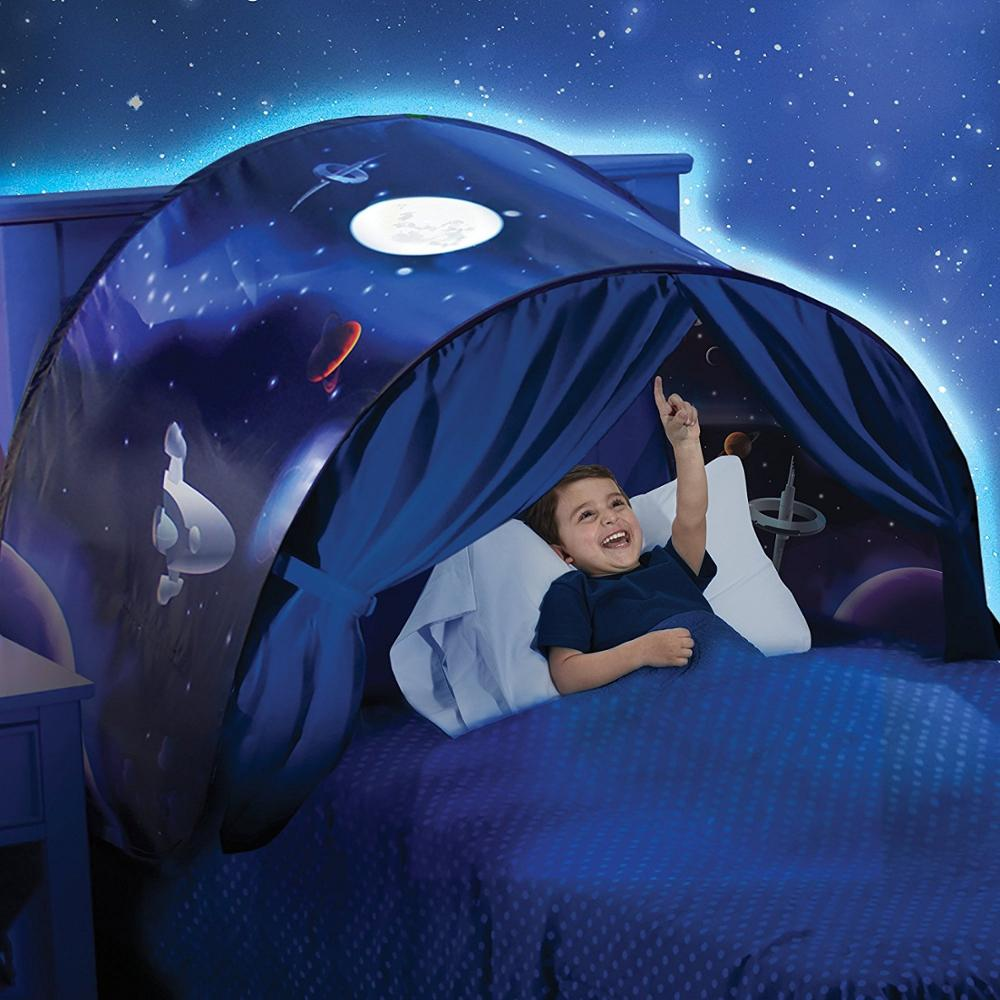 Kids Bed Pop-Up Tents Playhouse with Reading Light Children Christmas Gifts dream tents