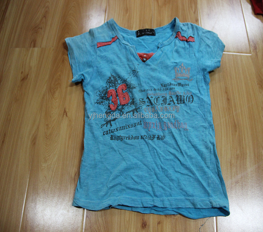 children secondhand clothing children used summer t-shirts