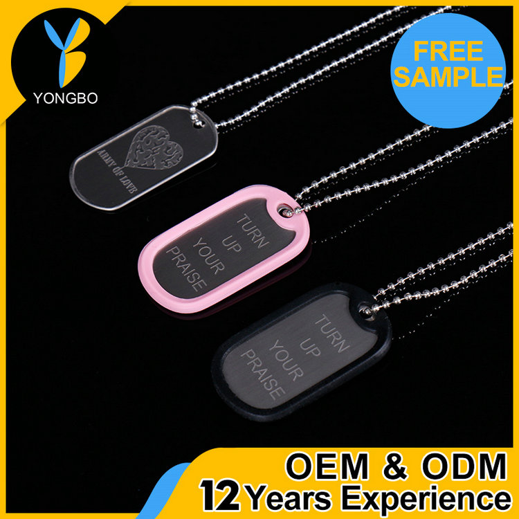 Professional heart shape couple beautiful metal dog tags OEM logo brand