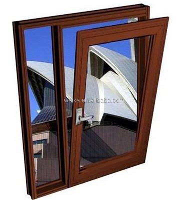 2018 Australian style windows and doors tilt&turn aluminum glass window