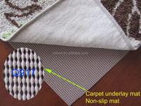 Shandong factory high grade non-slip pvc rug pad