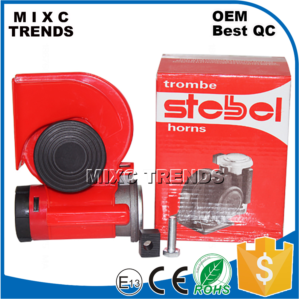 12V Snail Compact Dual Tone Elecentric Motorcycle Siren Loud Air Horn with Pump