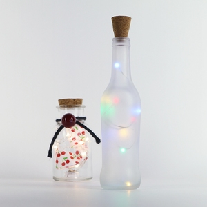 Spark Wine Bottle RGB Lights Bottle Lamp Kit Cork Shape Striping Lights 15 MicroLED Copper Wire Battery Light Rope Lamp