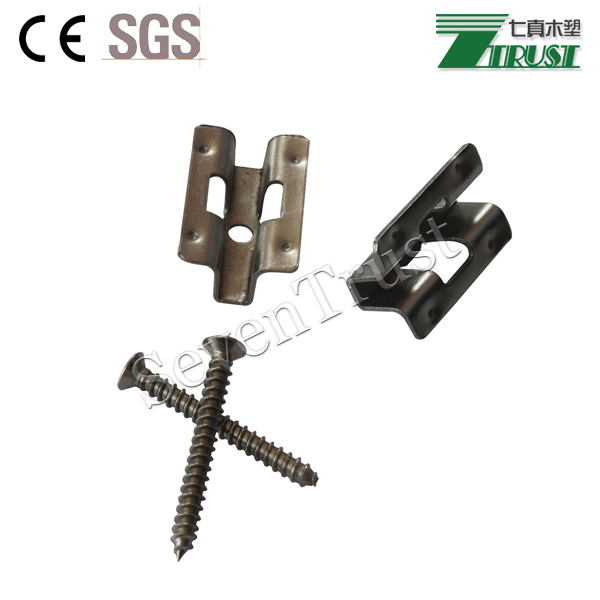 Stainless steel clips for outdoor decking installation