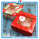 Colorful christmas gift box cupcake packing 4 capsules Christmas cake box