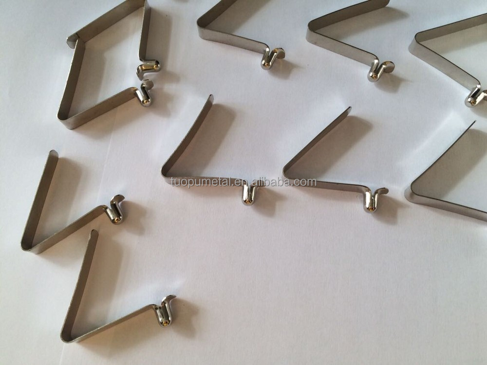China Supplies Metal Stamping Flat Spring Steel Clips