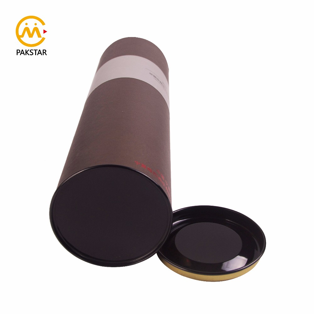 Various luxury colorful printed round cardboard single bottle wine packaging tube box