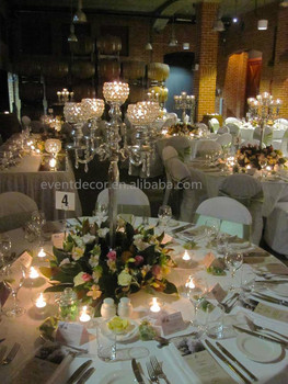 Fabulous Crystal Candelabra For Decoration Wedding Table Centerpiece