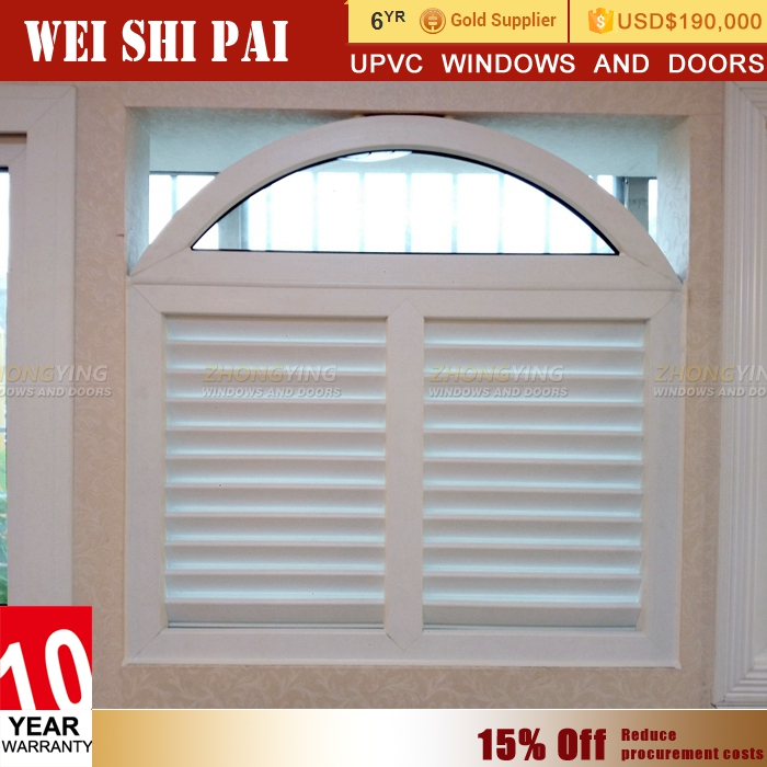 Pvc Plantation Octagon Interior Window Shutters , Removable Hurricane Security German Bi-Fold Window Shutters
