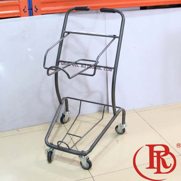 4 wheels folding shopping cart trolley