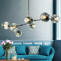 Zhongshan Glass Led Decorate Chandelier Pendant Light E27 Edison Tungsten Pendant Lamp Restaurant Living Room