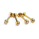 Gold plated piercing jewelry set of labret studs