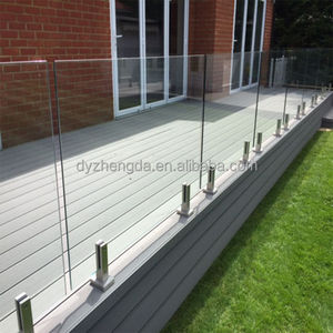Stainless steel glass railing posts with brackets/plexiglass railing