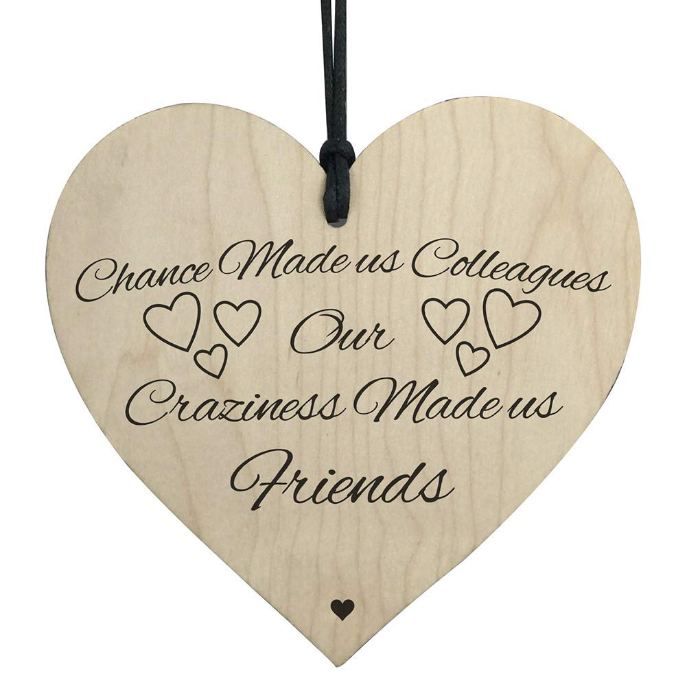 Aoruisier 1Pcs Wooden Heart-shaped Pendant Home Crafts Christmas Tree Small Hanging Decor 10x10CM(Style 5)